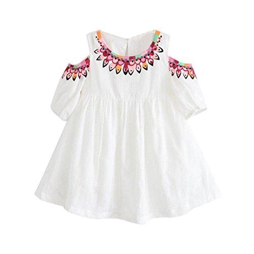 3f7cd18bf2599 Robe de Princesse Fille,Manadlian Bébé Filles Vêtements Impression  Bretelles Pageant Princesse Tutu Robes (