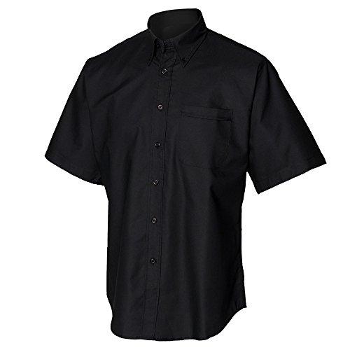 Henbury - Camicia da Lavoro Manica Corta - Uomo Blu scuro
