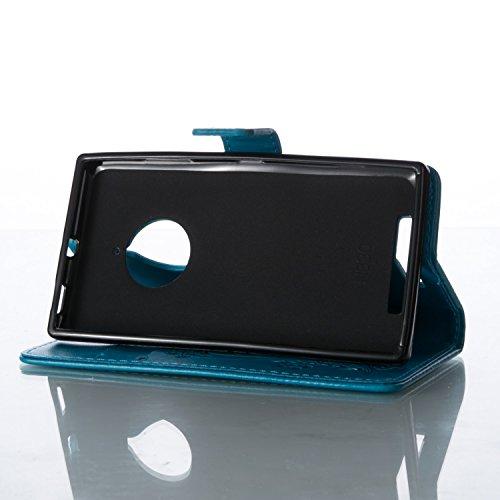 Cozy Hut Custodia portafoglio / wallet / libro in pelle per Apple iPhone 5C Custodia in Pelle Stampata Morbida PU Case Cover - Cover elegante e di alta qualità,Funzione di sostegno Stand,con la copert blu