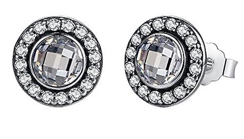 SaySure- 925 Sterling Silver Brilliant Legacy Stud Earrings
