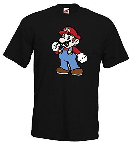 TRVPPY Herren T-Shirt Motiv Super Mario, Schwarz, 3XL