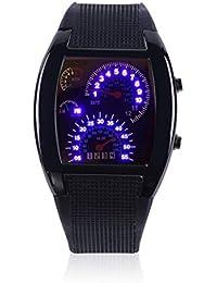 RPM Turbo Deportes para Hombre Azul Flash LED Deportes Metro del Coche Esfera de un Reloj