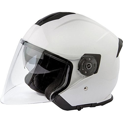 Stormer 40F-C01-A03-08 - Casque Jet Neo - Taille SM - Blanc Brillant