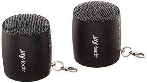 Jaytech 77002531 Ultra Mini Stereo Travel Kit 90S, Aktivlautsprecher mit kraftvoller Klangqualität (3,6 cm)