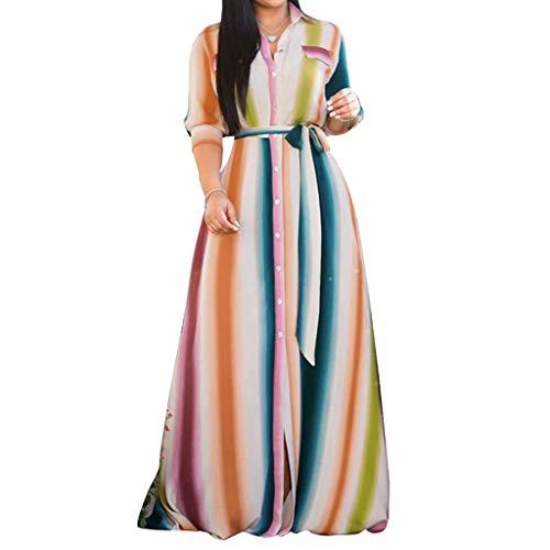 QinMM Frauen, die langes Kleid-Strand-Feiertags- / Unendlichkeits-Hochzeits-Brautjunfer-Parteikleider glätten (Robe Der Stricken Frauen)
