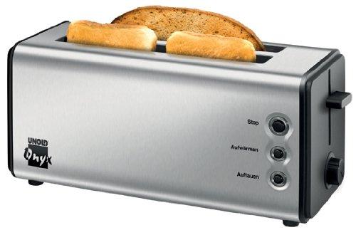 Unold 38915 Toaster Onyx Duplex Doppel-Langschlitz-Toaster / 1180-1400 Watt / Edelstahlgehäuse