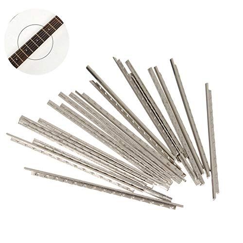LaDicha 24Pcs Guitar Fret Wire Nickel Silber 60 Mm Lang Für Gitarre Fretboard Reparatur - Draht Dvd-rack