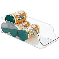 InterDesign Fridge/Freeze Binz Organizador de latas, caja de plástico para 9 latas de