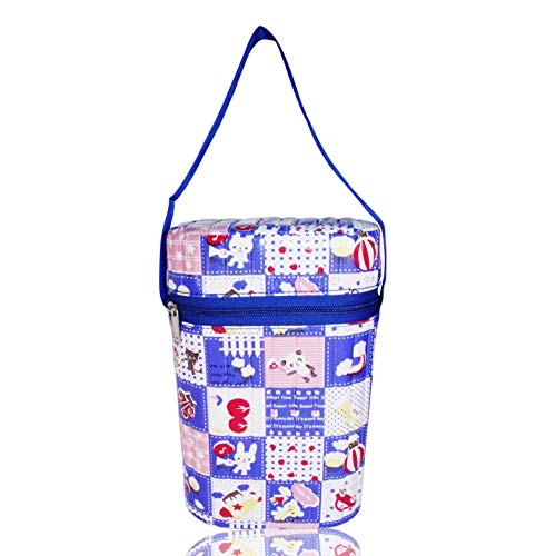 Guru Kripa Baby Products Presents Portable Infant Feeding Milk Food Bottle Thermal Warmer Bag Storage Holder (Upto 240ml X2 Bottles)
