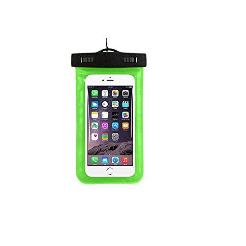 bemodst® Universal Handy wasserdicht Fall Dry Tasche Tasche für Outdoor-Aktivitäten Touchscreen Handy Tasche passend für Apple iPhone 6, 6Plus, 5S 5C 54S, Samsung Galaxy S6, S5, Galaxy Note 43, HTC LG Sony Motorola, grün