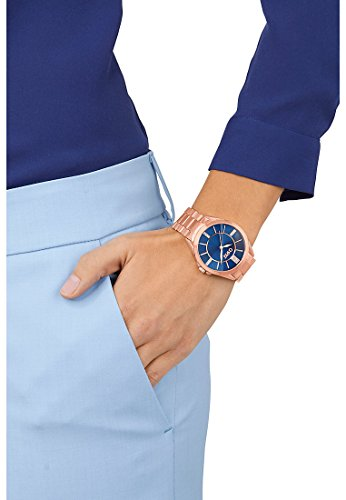 CHRIST times Damen-Armbanduhr Analog Quarz One Size, blau, rosé - 2