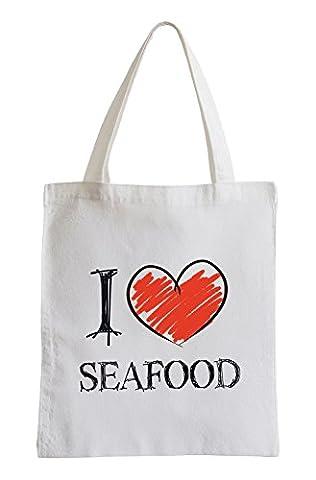 Je adore la cuisine de la mer Fun sac de (Bianco Aragosta)