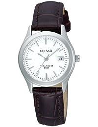 Pulsar Damen-Armbanduhr XS Modern Analog Quarz Leder PXT917X1