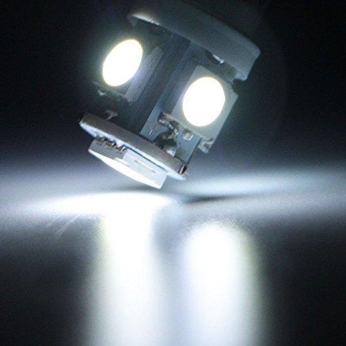 PURO BIANCO 5SMD 5050H 6W BA9S LED Lampadina auto veicolo interno luce cuneo leseh Aube lampada, confezione da, 6Volt