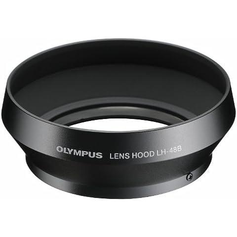 Olympus LH-48B Paraluce in metallo per l'Obiettivo Olympus M.Zuiko Digital 17mm 1:1.8, Nero