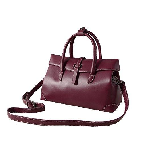 Yy.f Neue Lederhandtaschen Damenmode Einfache Ledertaschen Schulter Diagonal Handtasche Farbe 3 Purple