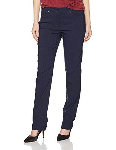 Gina Laura Große Größen Damen Hose GL_4 Pocket_N Länge Blau (Dunkelblau 70), 42 (Stretch-hosen Klassische)