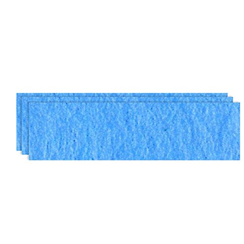 GLOREX Bastelfilz (40 x 30 cm) hellblau, 4 mm dick, 3 Filzplatten