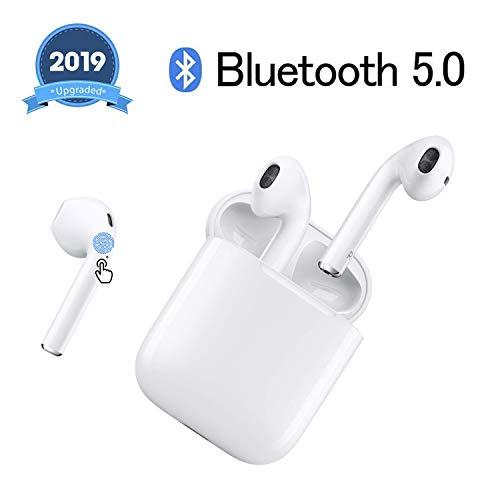 Cuffie Bluetooth auricolari wireless 5.0 auricolari in-ear wireless cuffie wireless stereo IPX5 waterproof per Airpods Apple/Android.