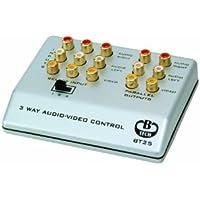 B-Tech BT25 - Base per connettori RCA, 3 periferiche