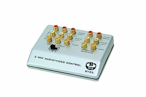 B-Tech 3-Way Audio Video Control (RCA), BT25_S (Control (RCA) Silver)