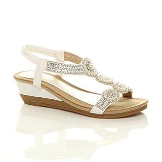 Ajvani , Damen Sandalen, Weiß - weiß - Größe: EU 39