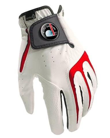 Gants de golf Toutes saisons S1Collection Hole in One + Marqueur de balle sherpashaw gratuits Rose, XL