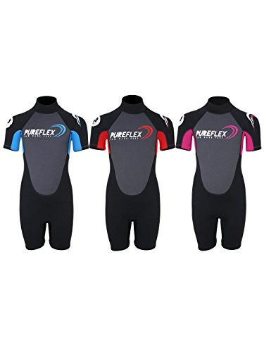 Two Bare Feet PUREFLEX NERO Childrens Kids Shorty Wetsuit Girls and Boys