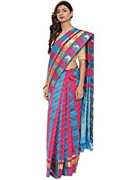 CLASSICATE From the house of The Chennai Silks Multicolor Traditional Silk Saree (CCMYSS10392 - Blue & Pink)