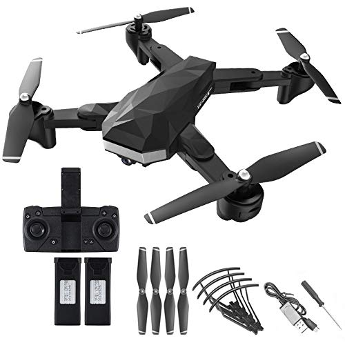 TwoCC Drone Child HR C53 5G WiFi FPV RC 4K HD Dual Camera Drone Helicóptero RC Plegable Regalos de Juguete de Navidad para Niños Adultos