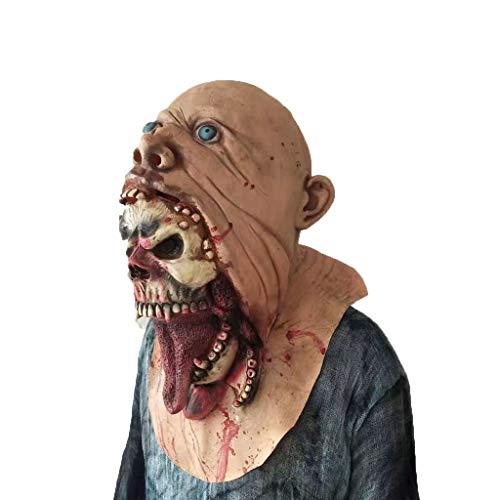 JHLD Halloween Zombie Maske, Blutig Schrecklich Latex Maske Kostüme, Für Halloween Festival Party-A-1 (Fett Kostüm Für Jungs)