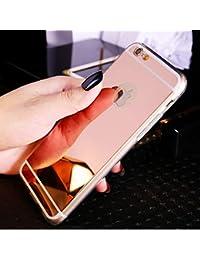 bd8f7778b2d Sycode - Funda con espejo para iPhone 8/7, cubierta de espejo TPU suave para  iPhone 7, funda de silicona reflectante, a prueba de golpes, espejo…