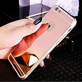 Sycode Protecteur Cas Couverture Protecteur Housses Coque en Effet Miroir pour iPhone 8/7-Rose Or