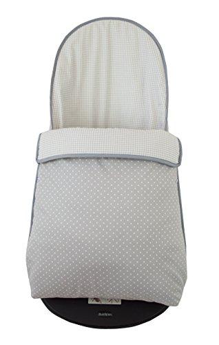 Imagen para Funda y saco para hamaca babybjörn balance soft (sustituye tapicería original). Topitos/vichy gris