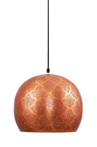 MAADES Orientalische Lampe Pendelleuchte Rayhana 30cm Kupfer E27 Lampenfassung | Marokkanische Design Hängeleuchte Leuchte | Orient Lampen für Wohnzimmer, Küche oder Hängend über den Esstisch