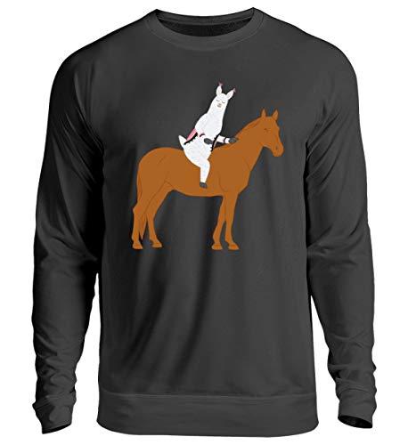 Chorchester Ideal für Pferde und Alpaka Fans - Unisex Pullover -M-Jet Schwarz -