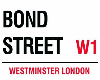 MOUSE MAT 1404 BOND STREET LONDON ROAD STREET SIGN QUALITY FUN MOUSE MAT
