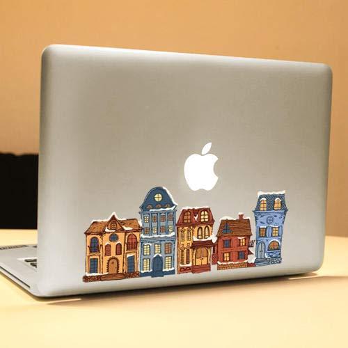 K8U132 @FATO PAG-Haus-dekorativer Laptop Aufkleber Removable sprudeln freier Selbstklebe-Partial-Farben-Haut-Aufkleber