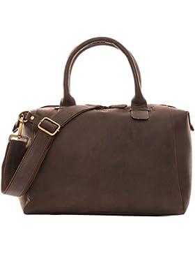 LEABAGS Baltimore Handtasche aus echtem Büffel-Leder im Vintage Look