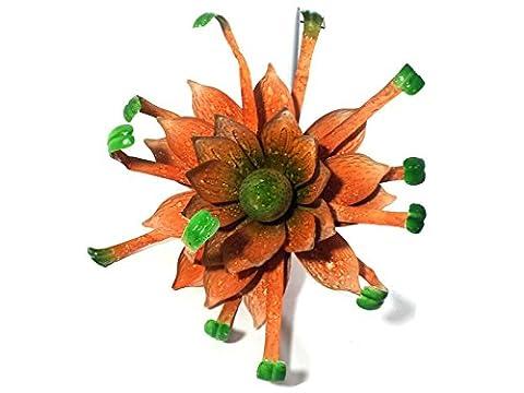 Metal Explosion - décoratifs Jaune Explosion Fleur Métal Piquet de