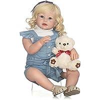 Terabithia 28 Pulgadas 70 cm Toque Suave Toque Vivo Cambiar Ropa Blondie Reborn Toddler Girl Dolls