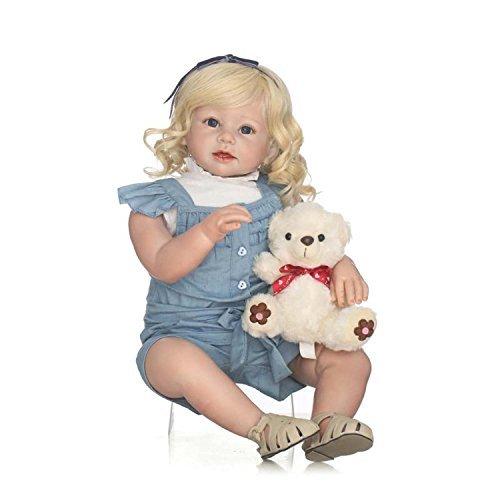 Terabithia 28 Zoll 70cm Gentle Touch lebendige Veränderung Kleidung Blondie Wiedergeborene Kleinkind Mädchen (Blondie Perücke)