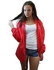 Aspecto Celeb - chaqueta impermeable para mujer de piel resistente al agua