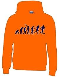 Coole-Fun-T-Shirts Fussball Evolution Kinder Sweatshirt mit Kapuze Hoodie Kids Gr.128-164 cm