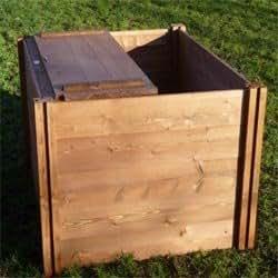 Le Big Square'Bac à Compost en bois couvercle