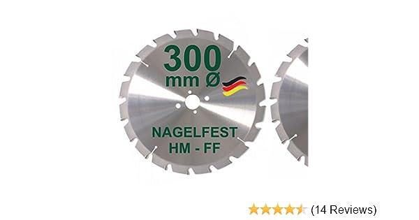 HM Kreissägeblatt300 x 30 mm FF Nagelfest 20Z Bauholz Sägeblatt Made in Germany