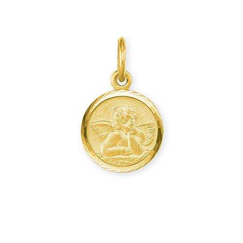 amor Damen Herren Unisex Schutzengel-Anhänger aus 585er Gelbgold
