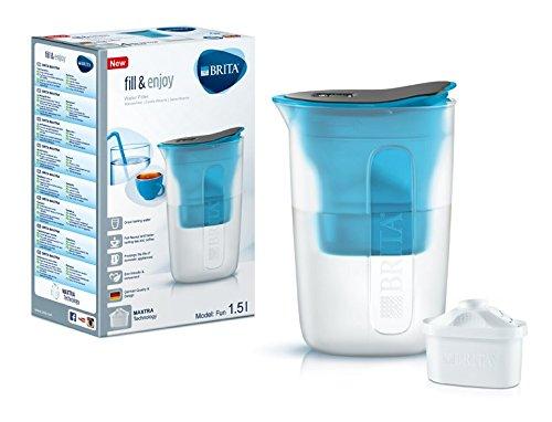 Brita Fill&Enjoy - Jarra filtrante de plástico, color azul, 17x 9x 24cm