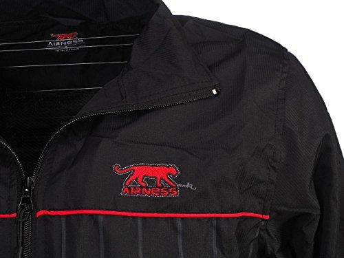 AirnessLisandro - Tuta sportiva, colore: Nero/Rosso Nero