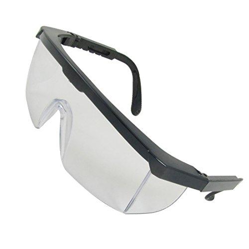 Schwarz Kunststoff Rahmen Arme Transparent Mono Objektiv Brillen für Mann